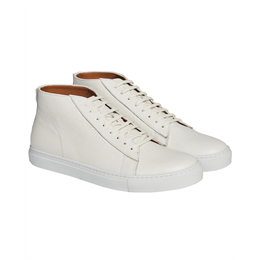 Berkeley | Luigi Leather High Top Sneaker | Herre Sneaker White